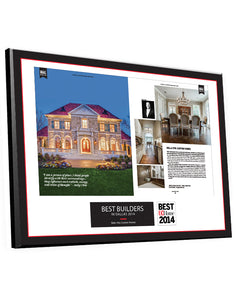 D Home Professional Services Two-Page Article Spread Plaques