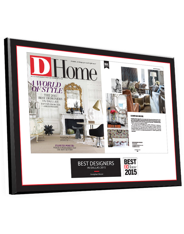 D Home Professional Services Article & Cover Spread Plaques