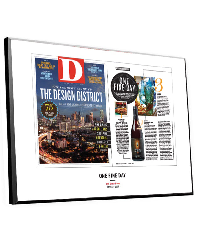 D Magazine Article & Cover Spread Plaques by NewsKeepsake