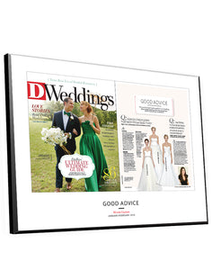 D Weddings Article & Cover Spread Plaques