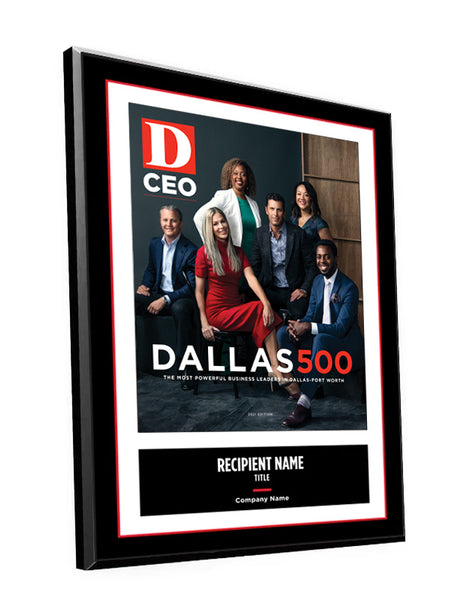 D CEO Dallas 500 Cover Plaque by NewsKeepsake