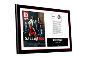 D CEO Dallas 500 Article & Cover Spread Plaque by NewsKeepsake