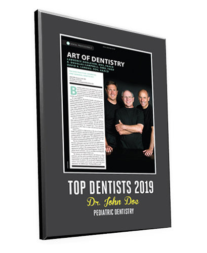 "San Diego Magazine ""Top Dentists"" Award Plaques"