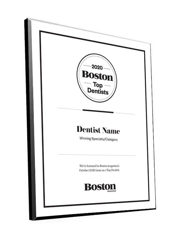 Boston Magazine Top Dentist Plaques by NewsKeepsake