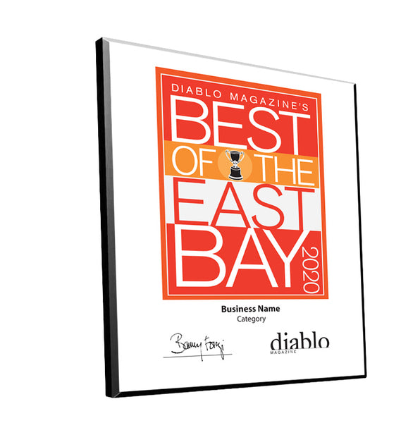 "Diablo Magazine ""Best of the East Bay"" Award - Mounted Archival Plaque"