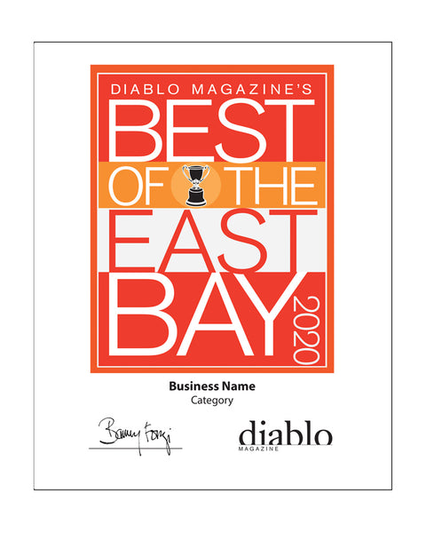 "Diablo Magazine ""Best of the East Bay"" Award - Vinyl Banner"