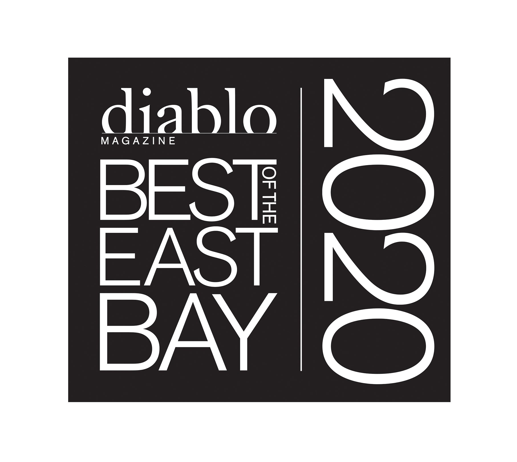 "Diablo Magazine  ""Best of the East Bay"" Award - Window Decals by NewsKeepsake"