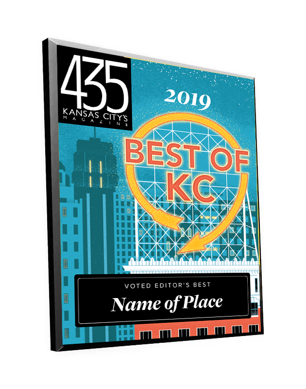 """Best of KC"" Award Plaque"