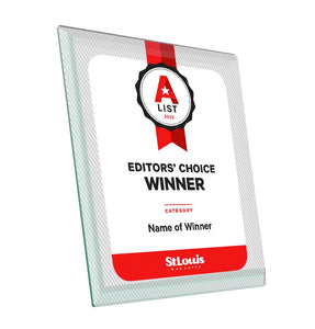 St. Louis Magazine A-List Award - Glass by NewsKeepsake