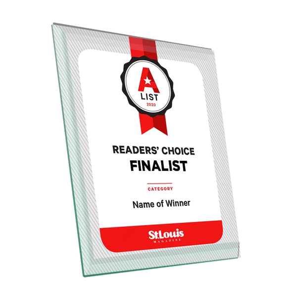 St. Louis Magazine A-List Award - Glass