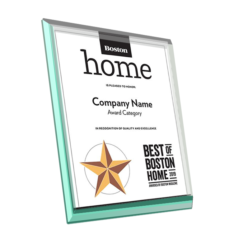 """Best of Boston Home"" Award Plaque - Glass"