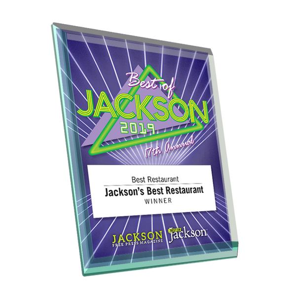 Best of Jackson Award Plaque - Glass