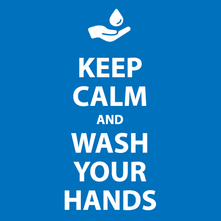 Keep Calm and Wash Your Hands Bathroom Sign by NewsKeepsake