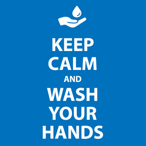 Keep Calm and Wash Your Hands Bathroom Sign