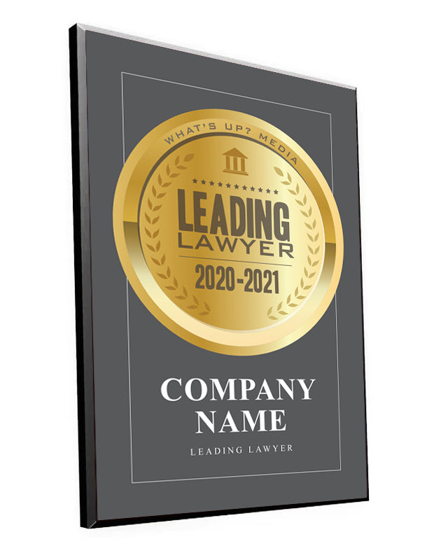 "What's Up? Magazine ""Leading Lawyer"" Award Plaque"