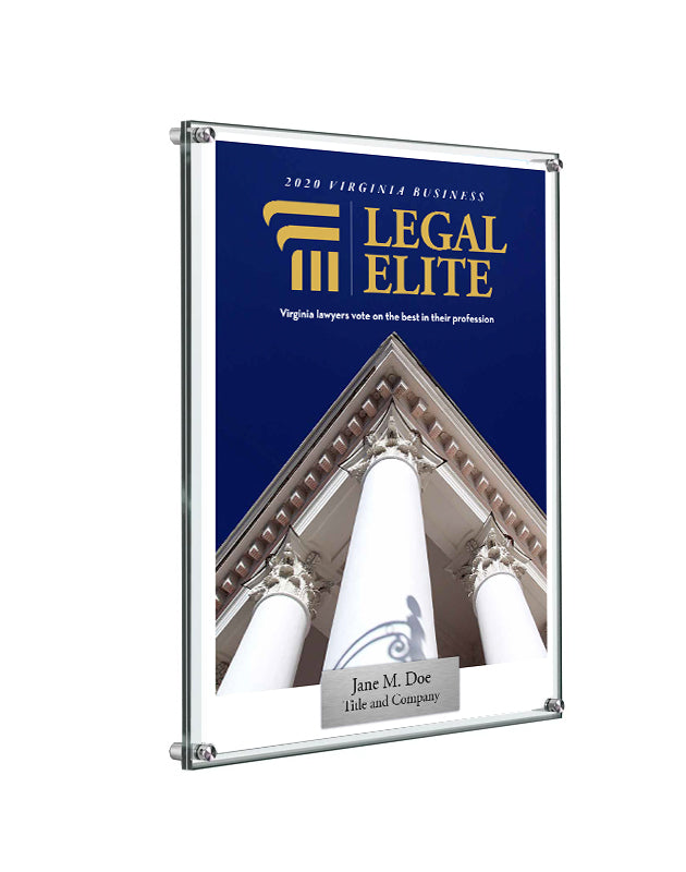 Legal Elite Cover Award Plaque - Acrylic Standoff