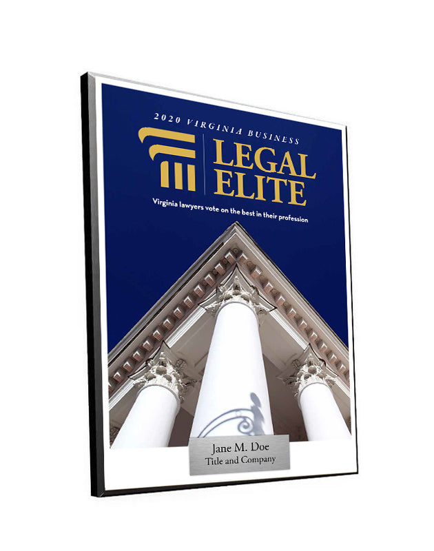Legal Elite Cover Award Plaque - Modern Wood Mount by NewsKeepsake