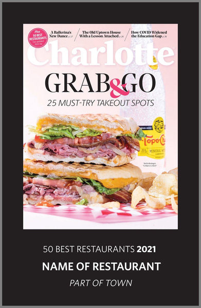 Charlotte Magazine 2021 Restaurants Awards Plaque by NewsKeepsake
