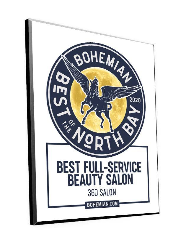 """Bohemian: Best of the North Bay"" Award Plaque"