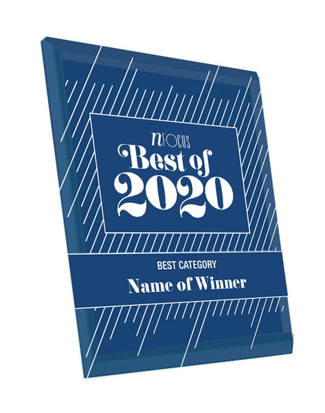 Nfocus Magazine's Best Of Crystal Glass Cover Award Plaque