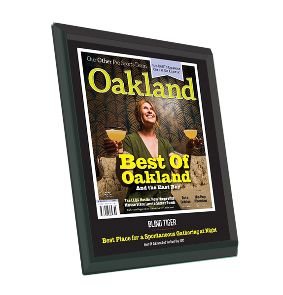 """Best of Oakland & the East Bay"" Award Plaque - Glass"