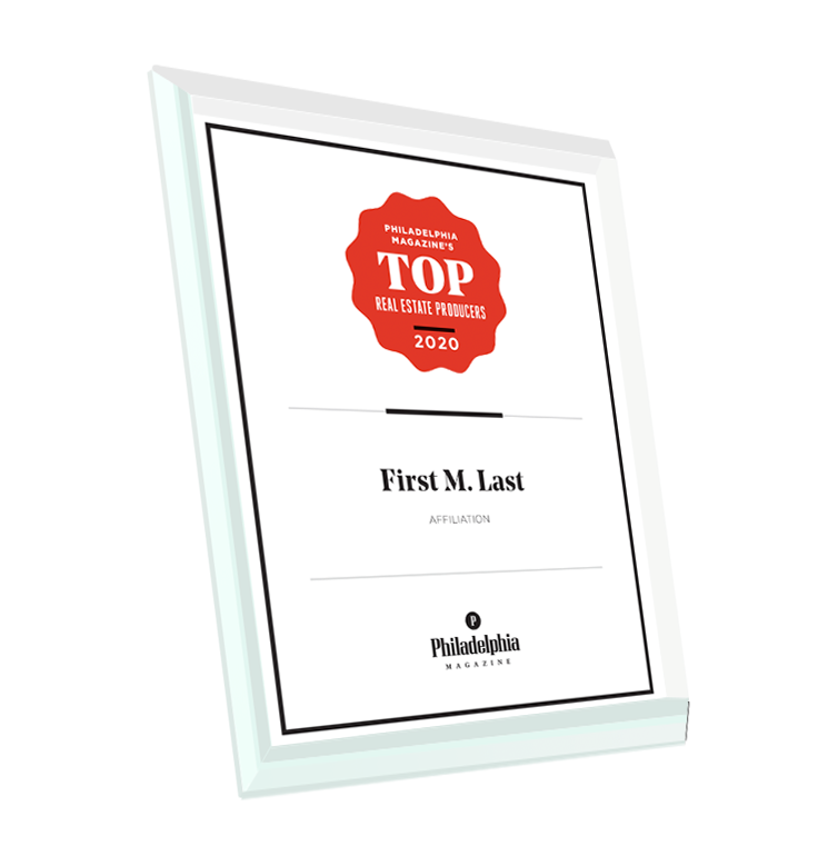 <em>Philadelphia</em> magazine Top Real Estate Award - Glass
