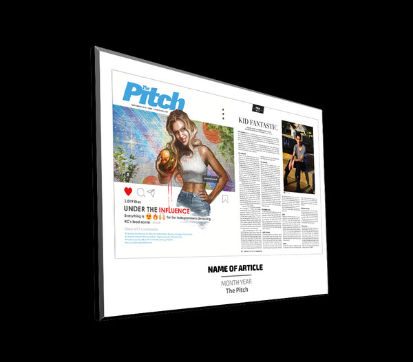 The Pitch Cover with Article Spread Plaques by NewsKeepsake