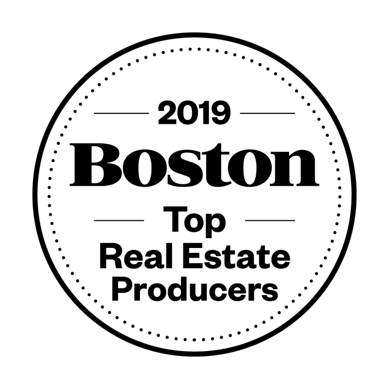 Boston Magazine Top Real Estate Producers Window Decals