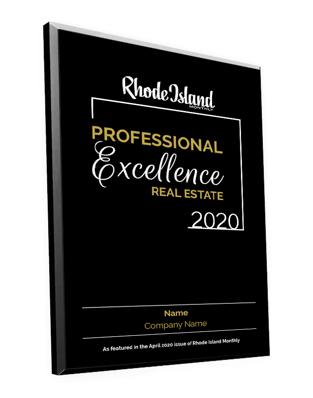 Professional Excellence in Real Estate Award Plaque