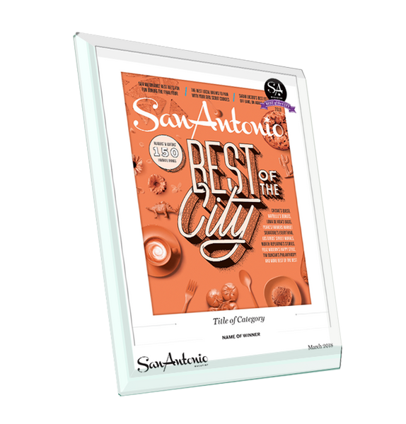 """Best of the City"" Glass Cover Award Plaque"