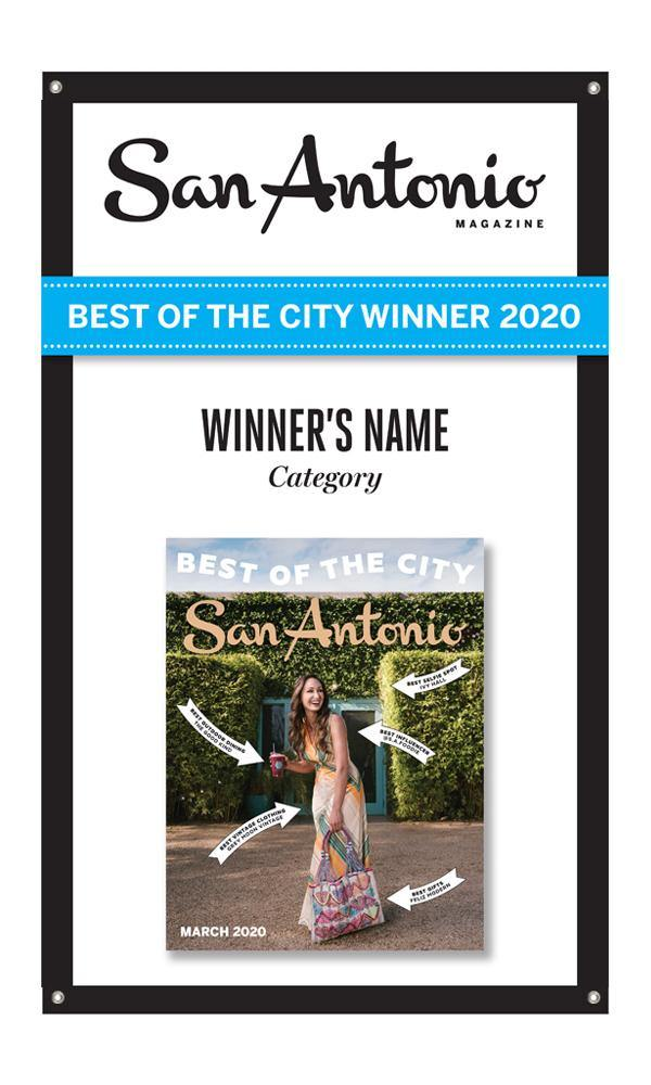 """Best of the City"" Award Banner"