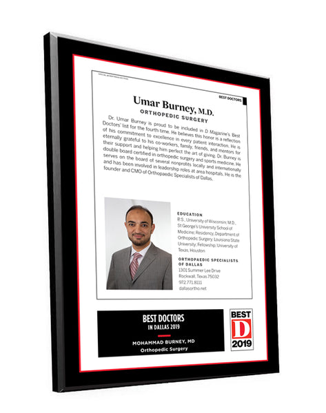 "D Magazine ""Professional Services"" Article Plaques"