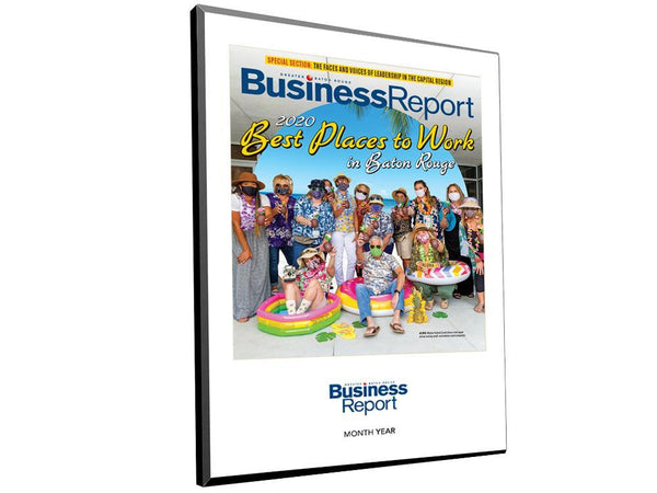 Business Report Magazine Cover / Article Plaque