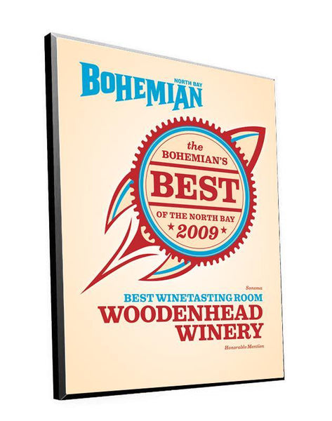 """Bohemian: Best of the North Bay"" Award Plaque by NewsKeepsake"