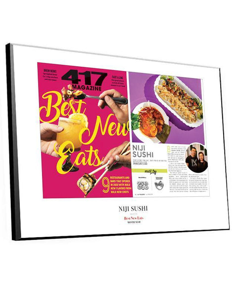 417 Magazine Article & Cover Spread Plaques by NewsKeepsake