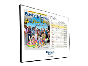 Business Report Article & Cover Spread Plaques