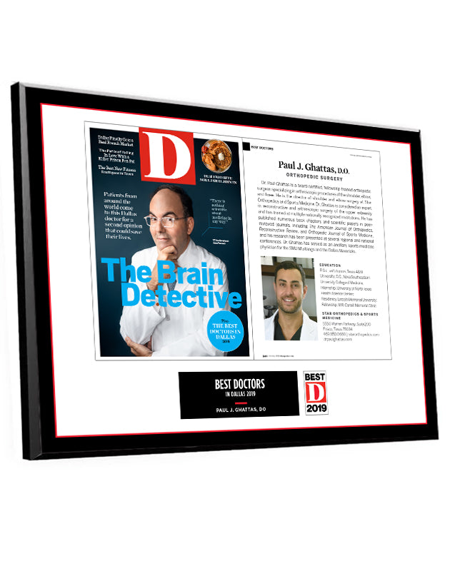 "D Magazine ""Professional Services"" Profile & Cover Spread Plaques"