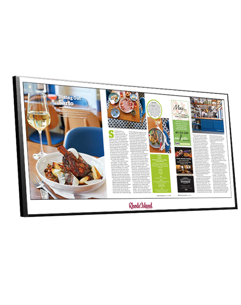 Rhode Island Monthly Article & Cover Spread Plaques