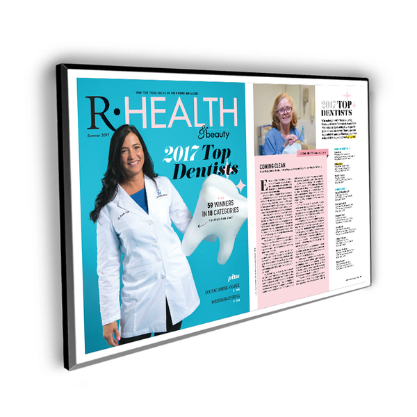 "Richmond Magazine ""Top Dentists"" Cover / Article Plaque - 18"" x 12"""