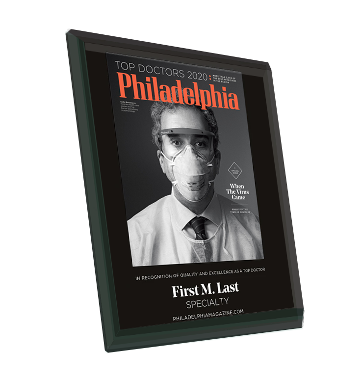 <em>Philadelphia</em> magazine Top Doctors Cover Award - Glass