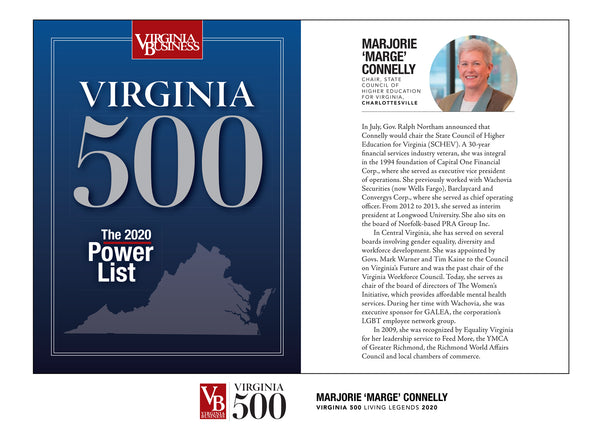 Virginia 500 Cover with Profile Plaque - Acrylic Standoff by NewsKeepsake