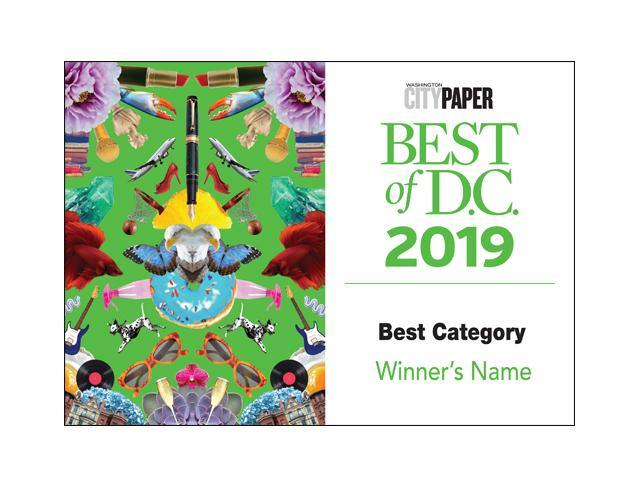 """Best of D.C."" Award Promo Labels"