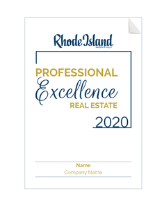 Professional Excellence in Real Estate Award Window Decals