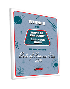 """Best of KC"" Award - Mounted Archival Plaque"