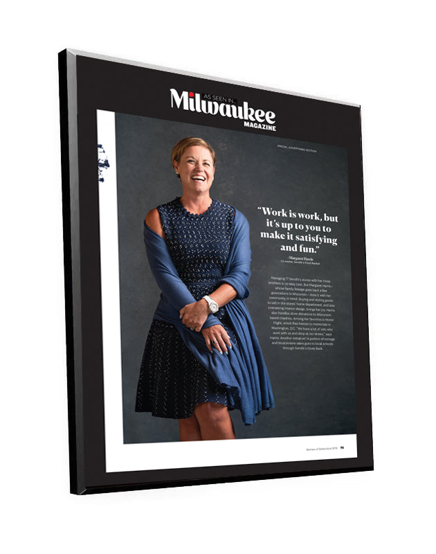"Milwaukee Magazine ""Women of Distinction"" Plaques & Window Clings by NewsKeepsake"