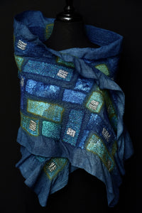 """Blue Lagoon"" nuno wool wrap"