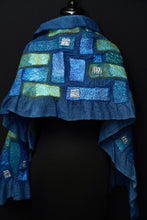 "Load image into Gallery viewer, ""Blue Lagoon"" nuno wool wrap"