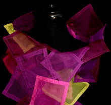 "Load image into Gallery viewer, ""Square Dance"" Bojagi silk organza wrap"