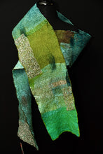 "Load image into Gallery viewer, ""Emerald Isle"" Boro scarf"