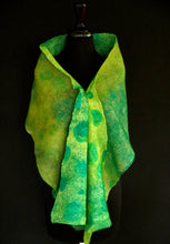 "Load image into Gallery viewer, ""Galway"" hand painted & hand dyed silk and merino wool wrap"